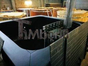 Rectangular hot tub polypropylene lined with snorkel heater 11