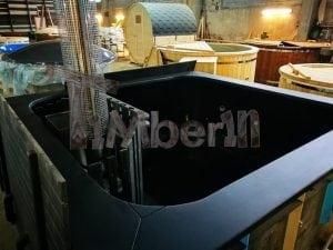 Rectangular hot tub polypropylene lined with snorkel heater 13
