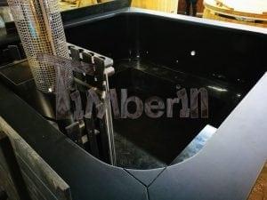 Rectangular hot tub polypropylene lined with snorkel heater 5