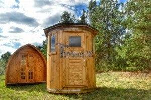Wooden vertical sauna Harvia 3