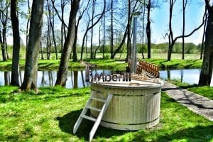 Wood fired hot tub for garden. Includes sand filtration 2 LED and wall insulation 18