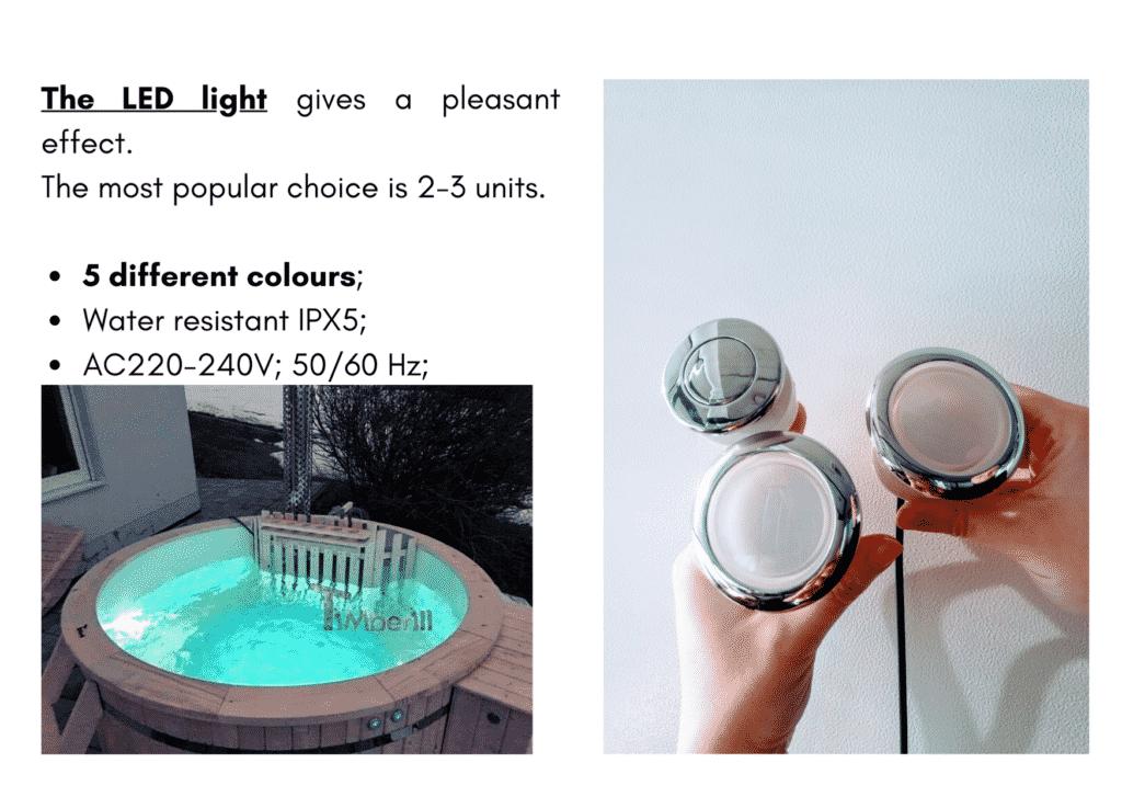 Outdoor garden hot tub jacuzzi with polypropylene liner LED 2 15