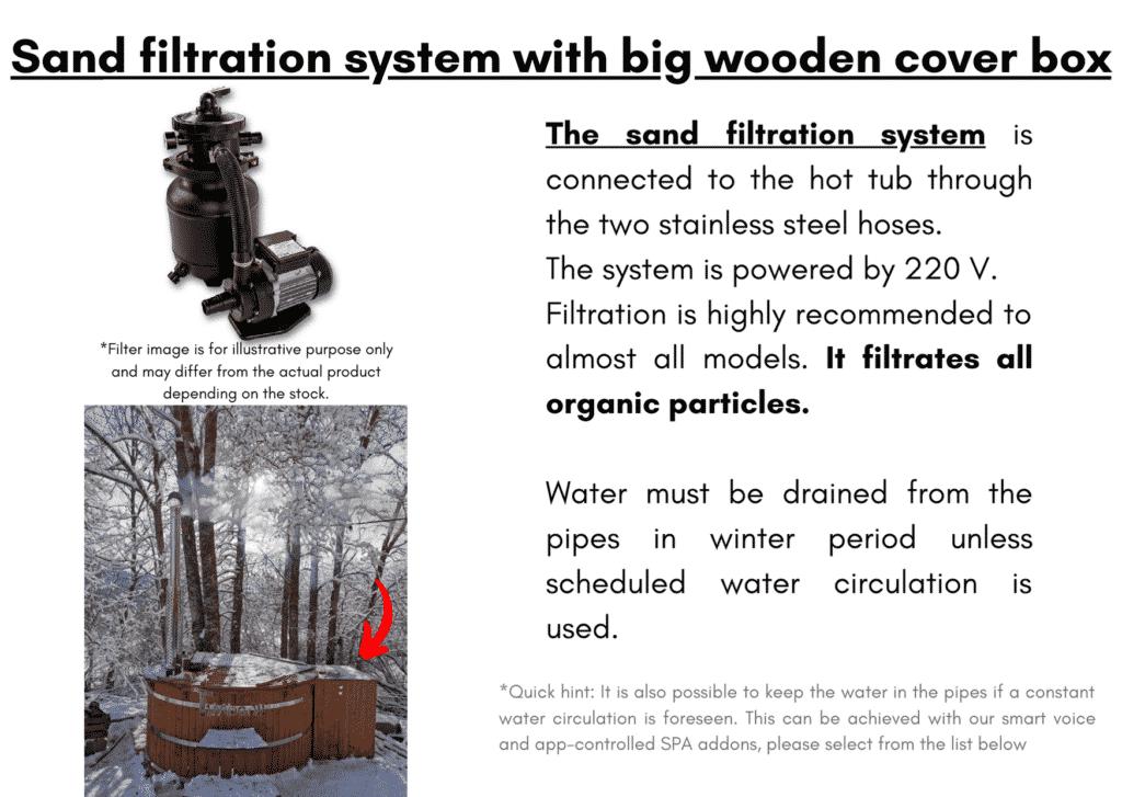 Outdoor garden hot tub jacuzzi with polypropylene liner Sand filtration system 18