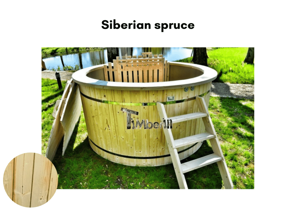 Outdoor garden hot tub jacuzzi with polypropylene liner Siberian spruce 2