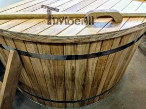 Outdoor spa with polypropylene liner 18 1