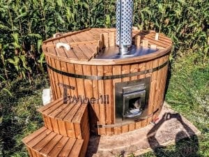 Outdoor spa with polypropylene liner 39