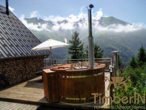 Outdoor wooden hot tub 4 1