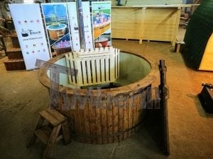 Wood fired hot tub with polypropylene lining Vintage decoration 1