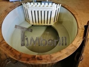 Wood fired hot tub with polypropylene lining Vintage decoration 10