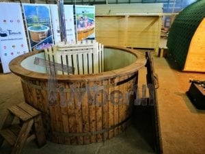 Wood fired hot tub with polypropylene lining Vintage decoration 21