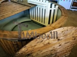 Wood fired hot tub with polypropylene lining Vintage decoration 29
