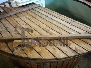 Wood fired hot tub with polypropylene lining Vintage decoration 30