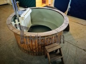 Wood fired hot tub with polypropylene lining Vintage decoration 5