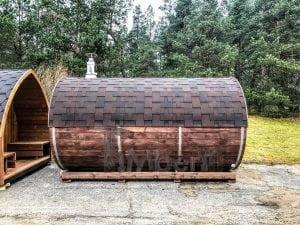 Barrel outdoor sauna 2