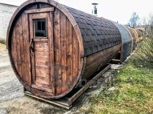 Barrel outdoor sauna 3