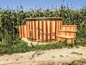 Electric outdoor hot tub Wellness Conical 15 1