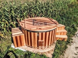 Electric outdoor hot tub Wellness Conical 35