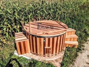 Electric outdoor hot tub Wellness Conical 36