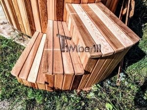 Electric outdoor hot tub Wellness Conical 8 1