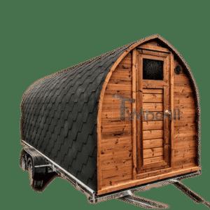 Outdoor sauna pod iglu on wheels mobile