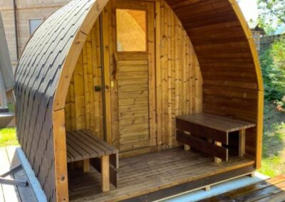4 person outdoor sauna