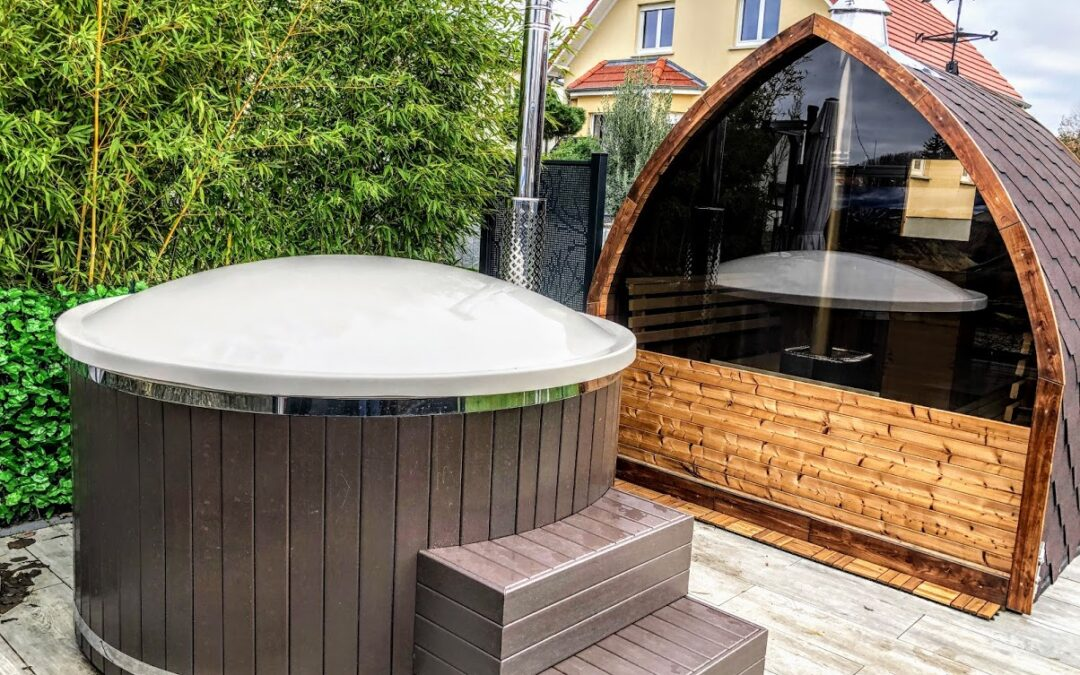 Wooden hot tub base