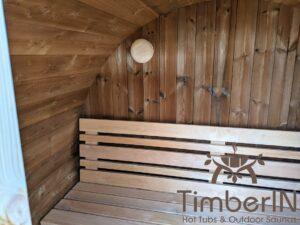 Outdoor sauna small mini for 2 4 persons 10