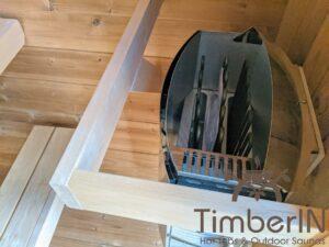 Outdoor sauna small mini for 2 4 persons 11