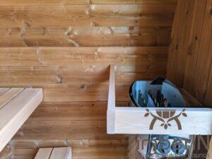 Outdoor sauna small mini for 2 4 persons 13