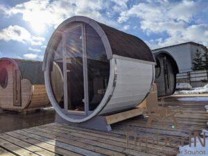Outdoor sauna small mini for 2 4 persons 19
