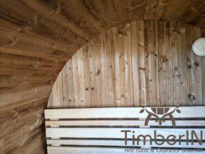 Outdoor sauna small mini for 2 4 persons 26
