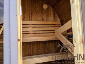 Outdoor sauna small mini for 2 4 persons 27