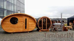 Outdoor sauna small mini for 2 4 persons 38