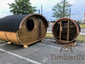 Outdoor sauna small mini for 2 4 persons 43