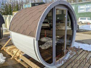 Outdoor sauna small mini for 2 4 persons 51