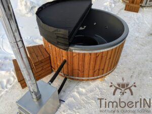 Wood fired hot tub with jets with external wood burner 15