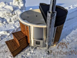 Wood fired hot tub with jets with external wood burner 3