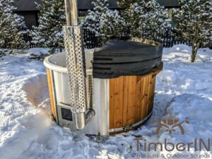 Wood fired hot tub with jets with integrated wood burner 22