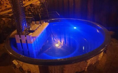 How can you create your own sunken inground hot tub?