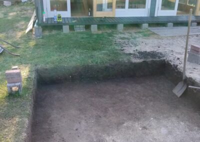 Removing the top layer of the soil (1)
